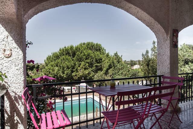 Casa Roberto Grande Valencia - pool view from terrace