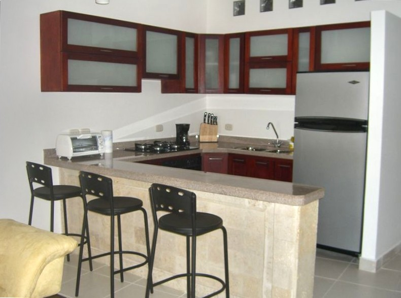 Cartagena Moneda - kitchen in 1 bed